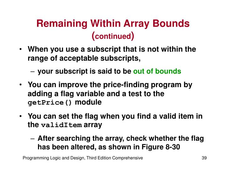 Remaining Within Array Bounds (
