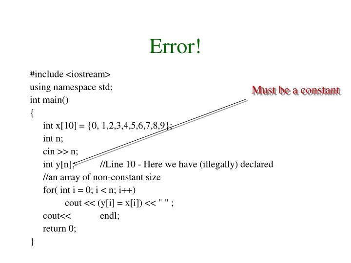 Error!