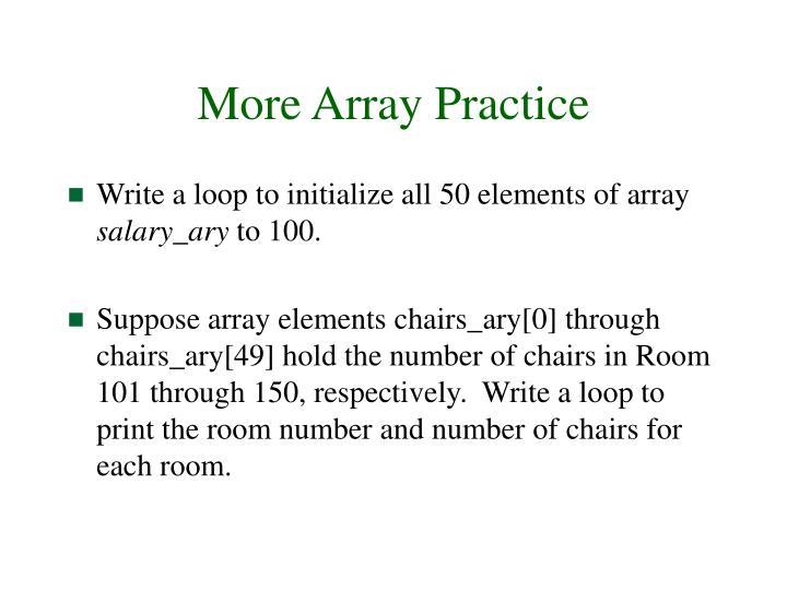 More Array Practice