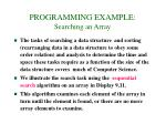 programming example searching an array