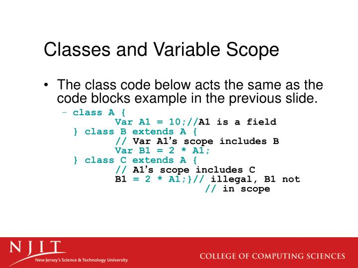 Classes and Variable Scope