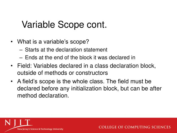 Variable scope cont