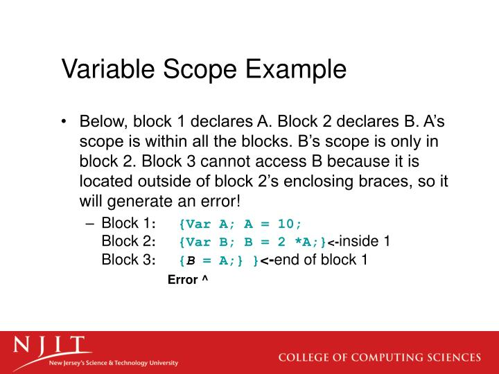 Variable Scope Example