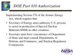 doe part 810 authorization