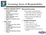 licensing areas of responsibility
