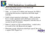 nsg initiatives continued