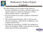 radioactive source export controls