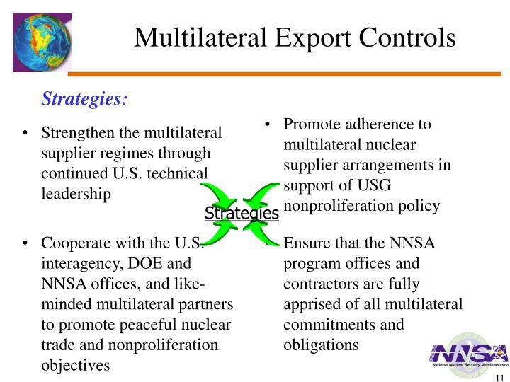 Multilateral Export Controls