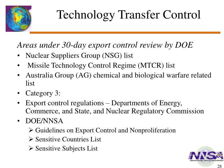 Technology Transfer Control