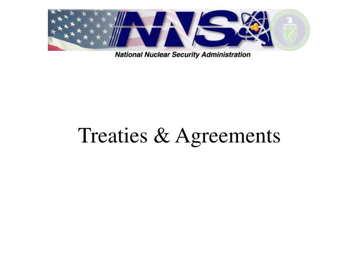 Treaties & Agreements