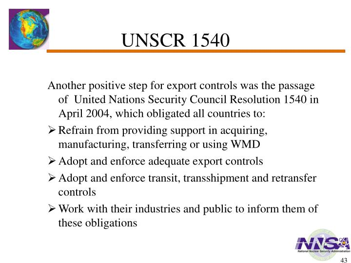 UNSCR 1540