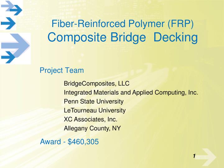 Fiber reinforced polymer frp composite bridge decking