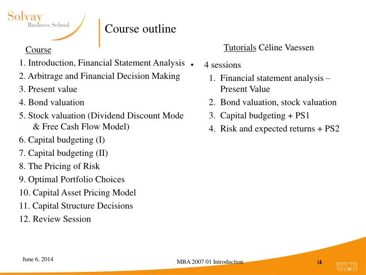 1. Introduction, Financial Statement Analysis