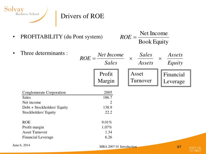 Drivers of ROE