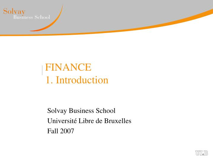 finance 1 introduction