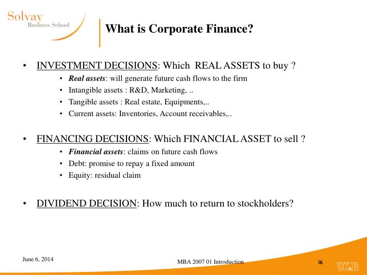 What is Corporate Finance?