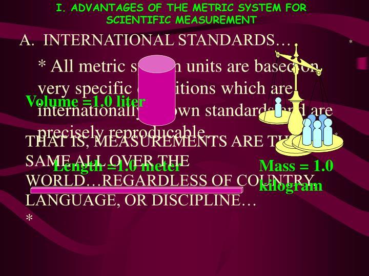 A.  INTERNATIONAL STANDARDS…