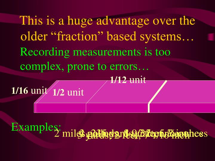 """This is a huge advantage over the older """"fraction"""" based systems…"""