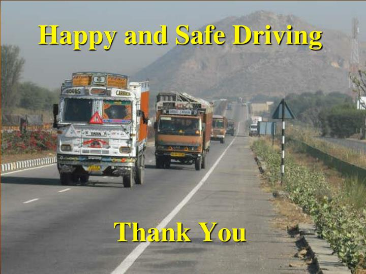 Happy and Safe Driving