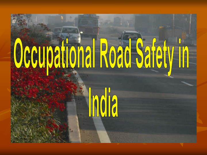 Occupational Road Safety in