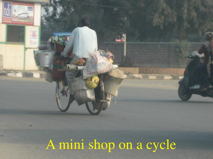 A mini shop on a cycle