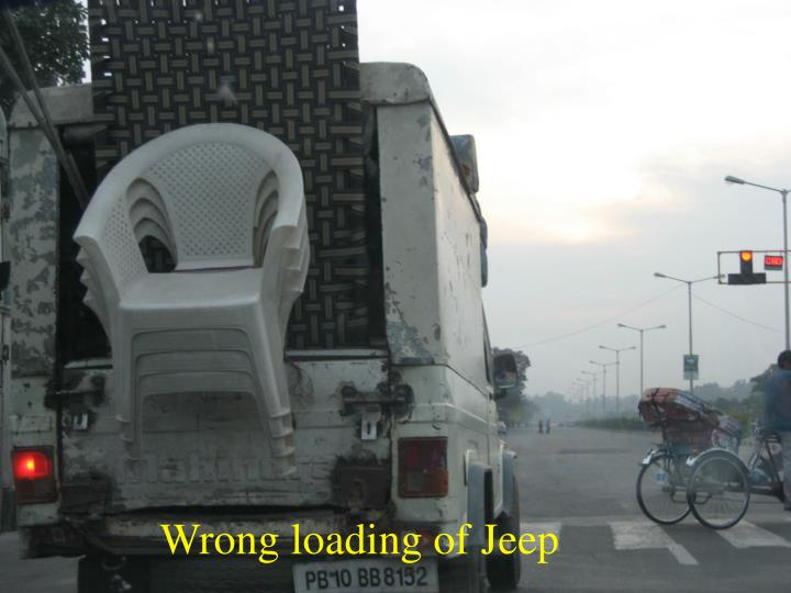 Wrong loading of Jeep