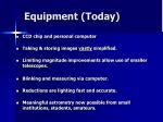 equipment today
