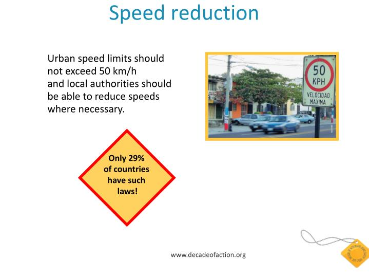 Speed reduction
