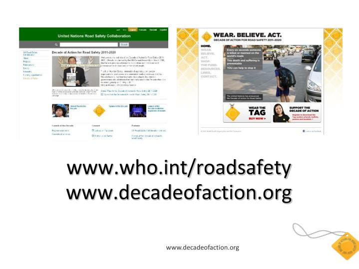 www.who.int/roadsafety