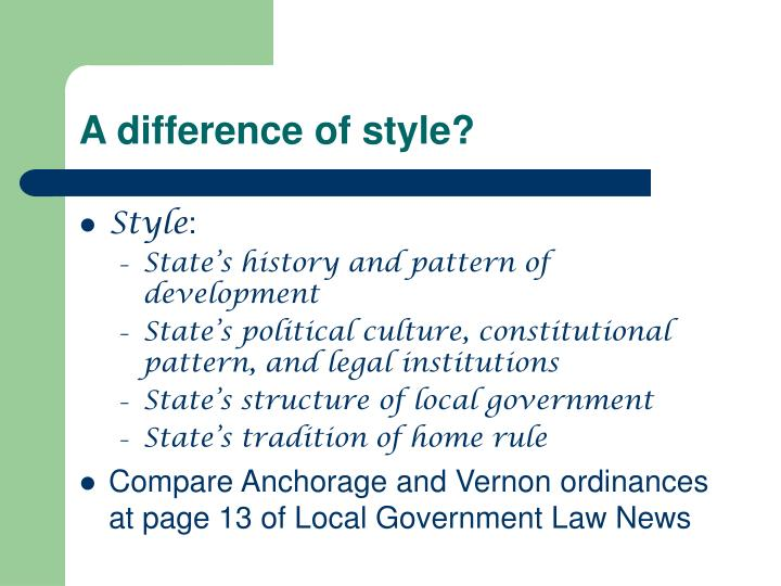 A difference of style?