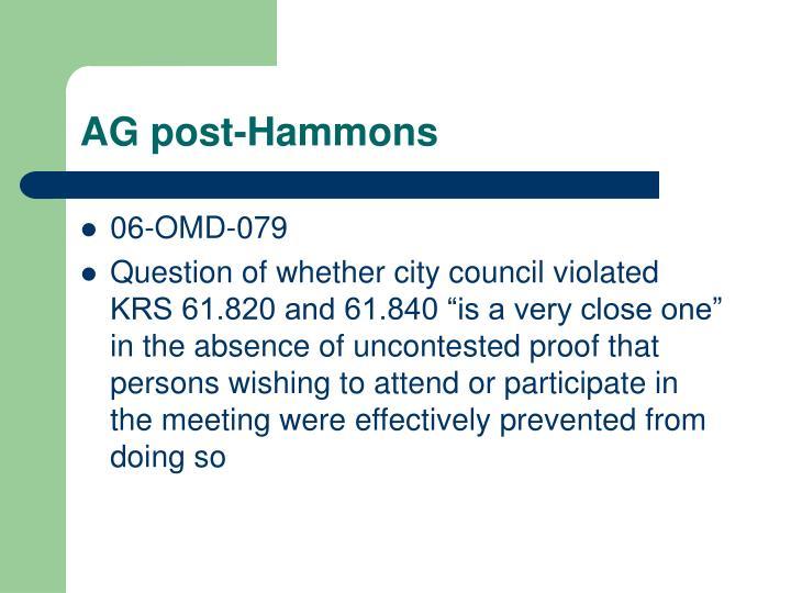 AG post-Hammons