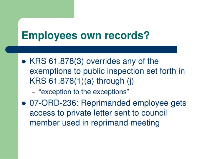 Employees own records?