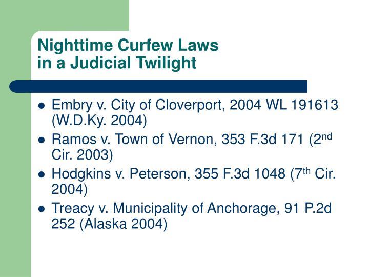 Nighttime Curfew Laws