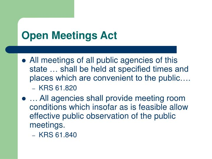 Open Meetings Act