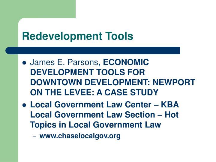 Redevelopment Tools