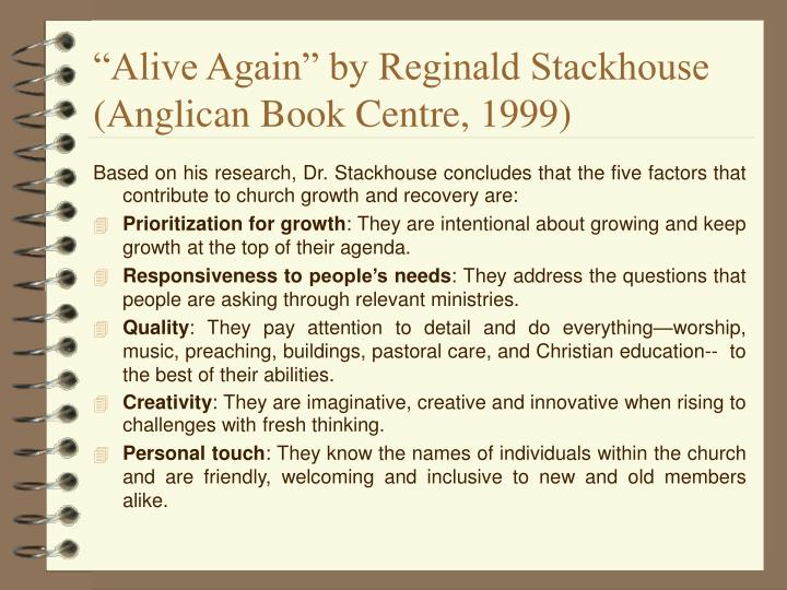 """""""Alive Again"""" by Reginald Stackhouse"""