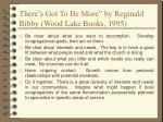 there s got to be more by reginald bibby wood lake books 1995