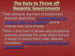 the duty to throw off despotic governments