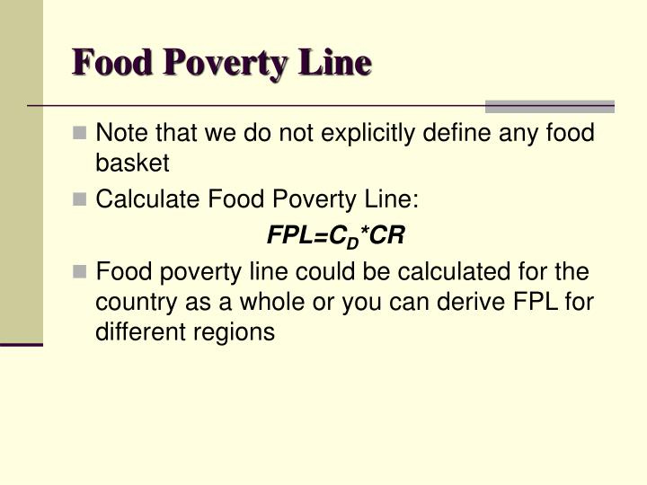 Food Poverty Line