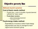 objective poverty line