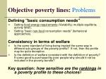 objective poverty lines problems