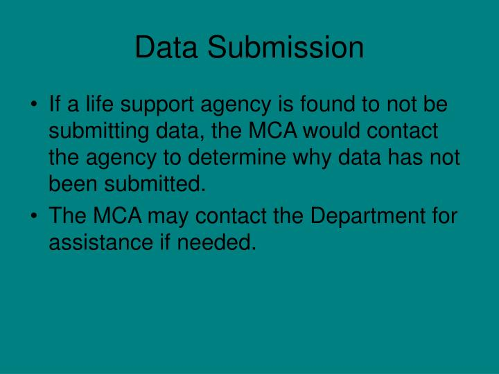 Data Submission