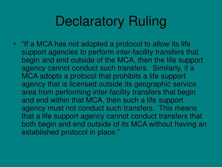 Declaratory Ruling