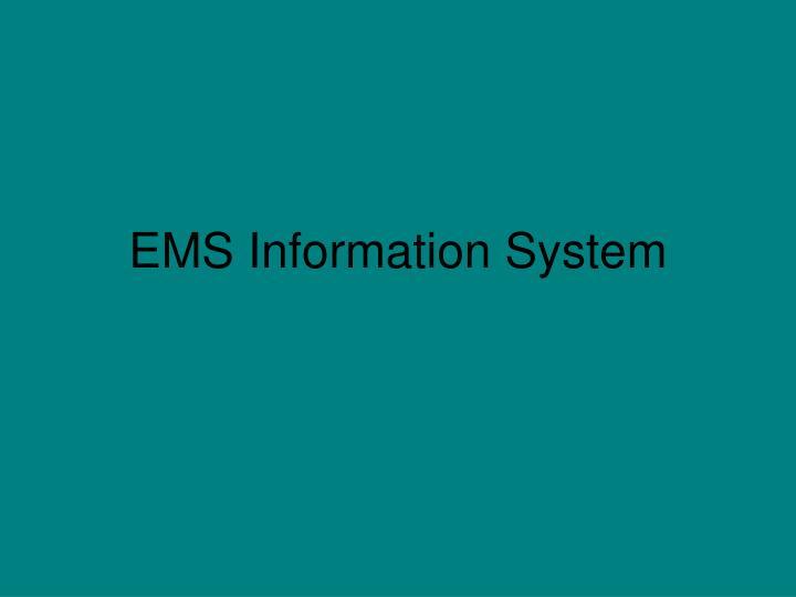 EMS Information System