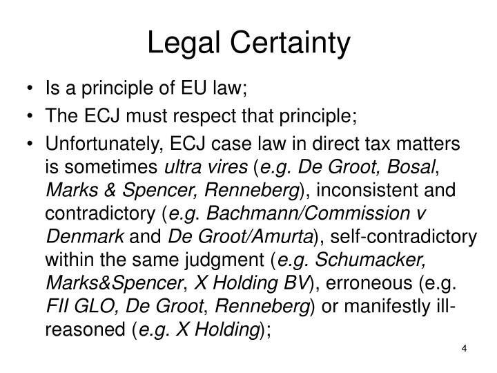 Legal Certainty