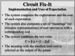 circuit fix it implementation and uses of expectation1