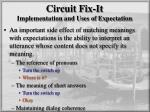 circuit fix it implementation and uses of expectation2