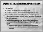 types of multimodal architecture1