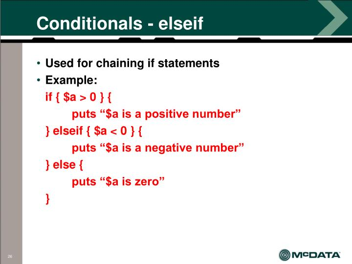 Conditionals - elseif
