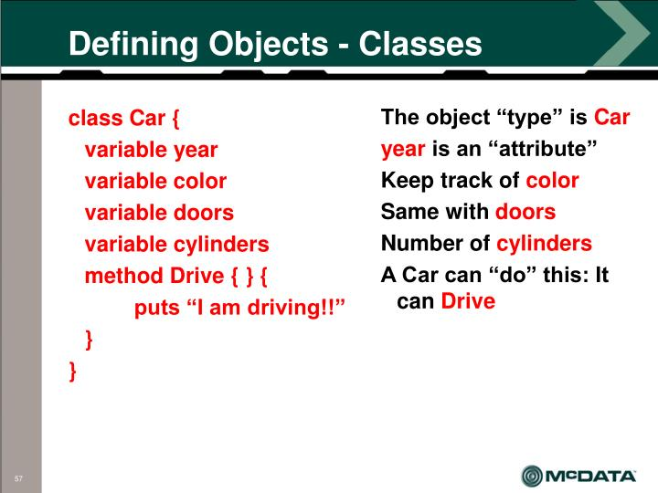 Defining Objects - Classes